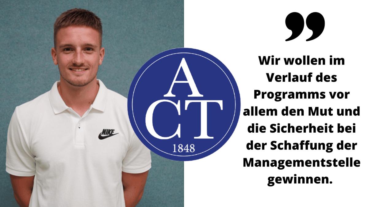 Bild von Cedric + Logo des ACT Kassel